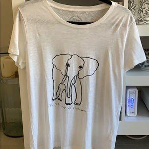 JCrew for the love of elephants tee